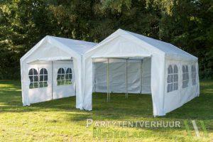 Partytent 6x6 meter voorkant huren - Partytentverhuur Gorinchem