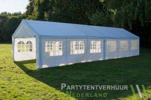 Partytent 6x12 meter zijkant rechts huren - Partytentverhuur Gorinchem