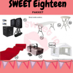 Sweet eighteen birthday themapakket huren Gorinchem