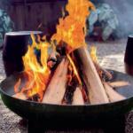 Brandende vuurschaal