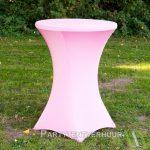 Statafel met rok roze huren Partytentverhuur Gorinchem