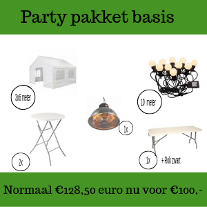 Party pakket basis huren in Gorinchem