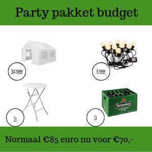 Party pakket budget huren in Gorinchem