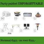 Party pakket unforgettable huren in Gorinchem