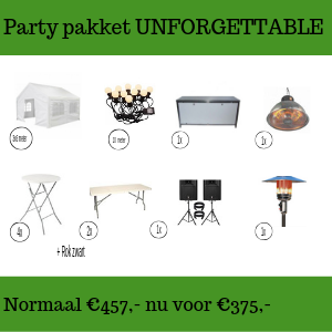 Party pakket unforgettable huren in Gorinchem