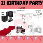 21 Birthday Party pakket huren Gorinchem